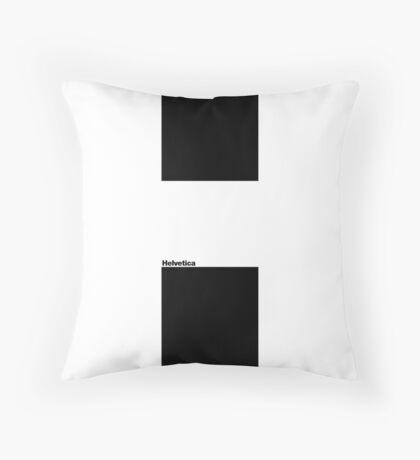 Helvetica - H Throw Pillow