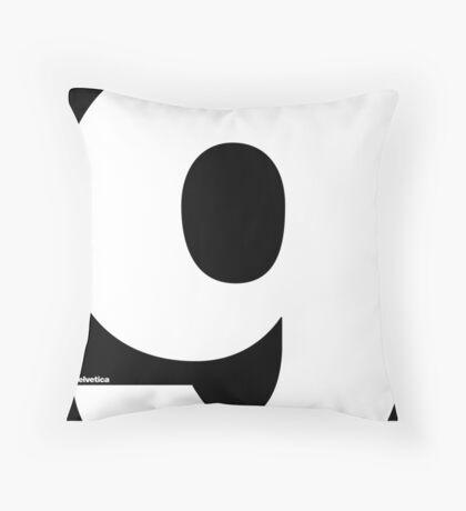 Helvetica - G Throw Pillow