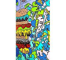 Wall Graffiti Burger Photographic Print