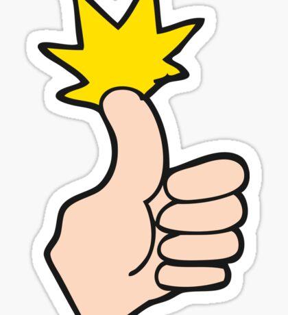 cartoon thumbs up Sticker