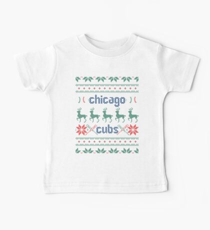 Christmas Chicago Cubs Baby Tee