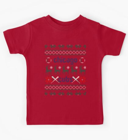 Christmas Chicago Cubs Kids Tee