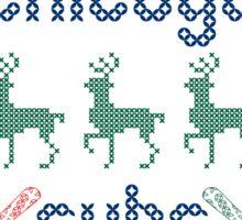 Christmas Chicago Cubs Sticker