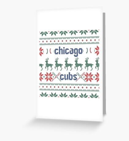 Christmas Chicago Cubs Greeting Card