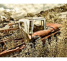 Abandoned Chevy C-10 Pickup Photographic Print