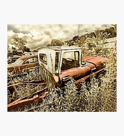 Abandoned Chevy C-10 Pickup Photographic Print