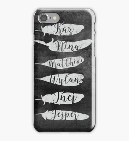 The Dregs - Six Of Crows (Black) iPhone Case/Skin