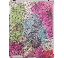 Geometric Abstract Watercolor and Line Drawing iPad Case/Skin