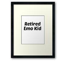 retired emo kid black Framed Print