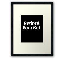 retired emo kid white Framed Print