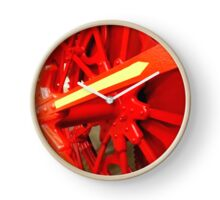 Red Gears On The Avery Clock