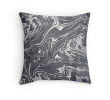 Grey White Swirl Throw Pillow