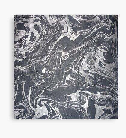 Grey White Swirl Canvas Print