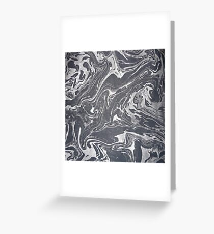 Grey White Swirl Greeting Card