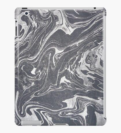 Grey White Swirl iPad Case/Skin