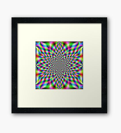 Neon Psychedelic Framed Print