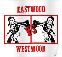 The two sides of Clint Eastwood Poster