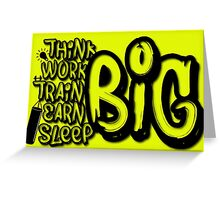 Inspiration Motivation Graffiti Workout Quotes  Greeting Card