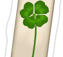4 Leaf Clover Bookmark Sticker
