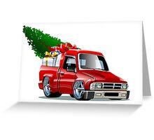 Cartoon Christmas Pickup Greeting Card