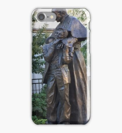 Archdiocese Garden Statute of Pope John Paul Baltimore MD iPhone Case/Skin