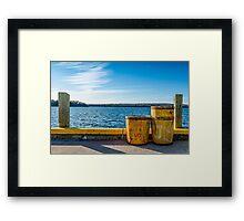 Fishermans Cove, Nova Scotia Framed Print