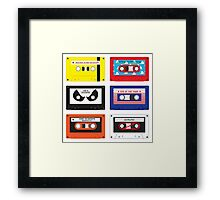 Cassettes Soundtracks Framed Print