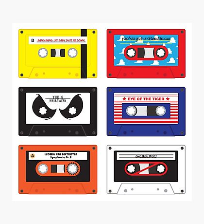 Cassettes Soundtracks Photographic Print