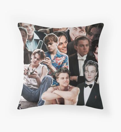 Leonardo Dicaprio Collage Throw Pillow