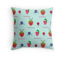 Berry Christmas Pattern Throw Pillow