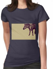 Drawing of a zebra. Illustration Womens Fitted T-Shirt