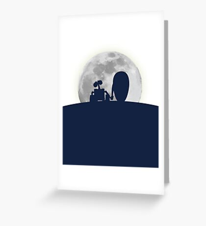 Wall•E and EVE in the Moonlight, Awwwww. Greeting Card