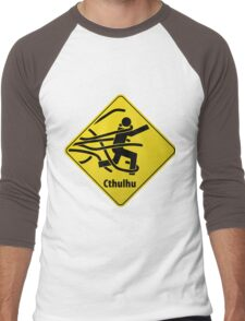 Cthulhu Warning Sign Men's Baseball ¾ T-Shirt