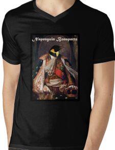 Napenguin.  Mens V-Neck T-Shirt