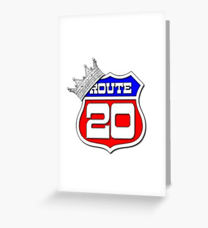 Longest Road In The US Crown on Route 20 Sign Greeting Card