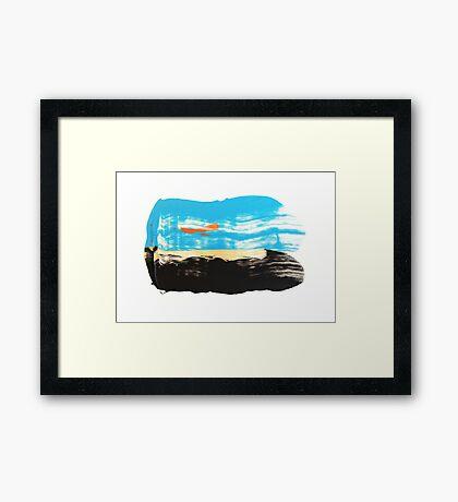 dune and sun Framed Print