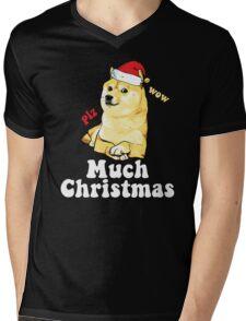 Much Christmas - Doge Meme Mens V-Neck T-Shirt