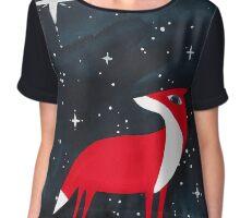 Merry Christmas! - 2, Fox and starry night Chiffon Top