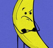 Bitter Business Banana Postcard Sticker