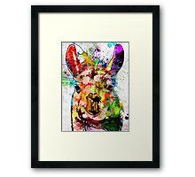 Llama Grunge Framed Print