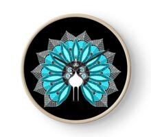 Blooming Peafowl 2 Clock
