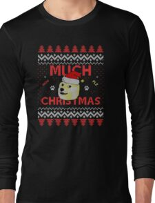Much Christmas - Doge Meme Long Sleeve T-Shirt
