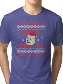 Much Christmas - Doge Meme Tri-blend T-Shirt
