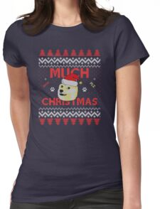 Much Christmas - Doge Meme Womens Fitted T-Shirt