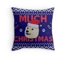 Much Christmas - Doge Meme Throw Pillow