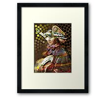 Space Pirate. Collaboration with Andy Nawroski Framed Print