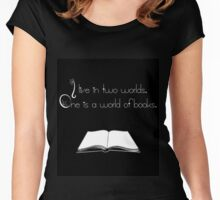 book's world Women's Fitted Scoop T-Shirt