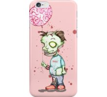 Zombie boy with Brain Balloon iPhone Case/Skin