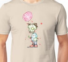 Zombie boy with Brain Balloon Unisex T-Shirt