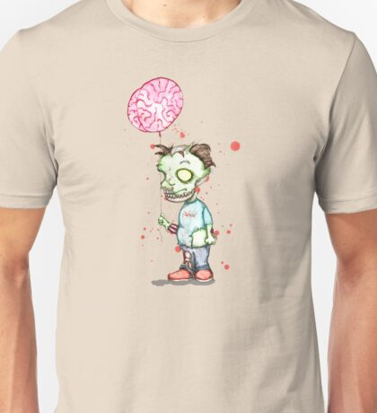 Zombie boy with Brain Balloon Unisex T-Shirt